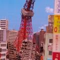 怪獣に破壊された東京タワー 特撮模型・・20120729