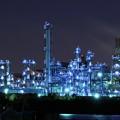 写真: 京浜工業地帯の工場夜景 水江運河 近未来世界?・・20130126