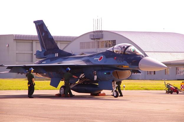 三沢基地から参加していたF-2A・・飛行チェック中・・