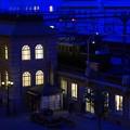 静まる夜の駅の周辺・・20130922