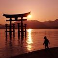 夕焼けこやけの風景。。宮島・・・20130504