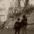 ふたりが見た帆船・・・