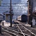 Photos: まだ静かな大井川鉄道新金谷駅・・・20131123