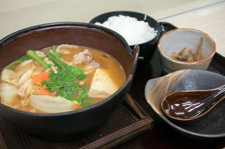 イノブタ柚子味噌鍋定食(中国道【上り】・安富PA)
