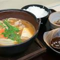 Photos: イノブタ柚子味噌鍋定食(中国道【上り】・安富PA)