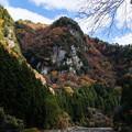 香落渓の紅葉・3