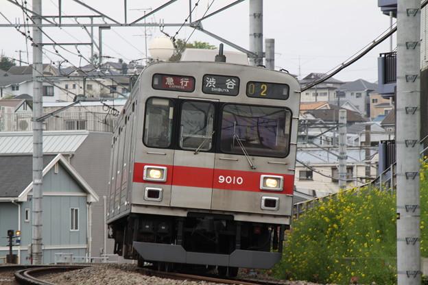 東急電鉄9010F_菜の花と共に_20120422