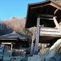 写真: 山寺の奥之院と鐘楼