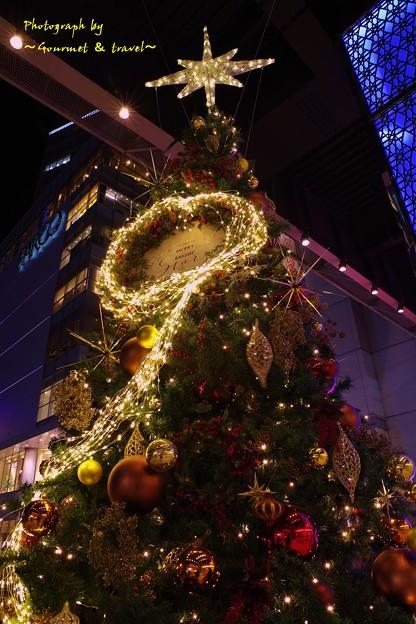 仙台駅近くのクリスマスツリー 2017.12.9