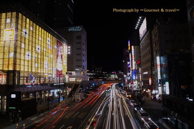 仙台駅に近いイルミと光跡 2017.12.9