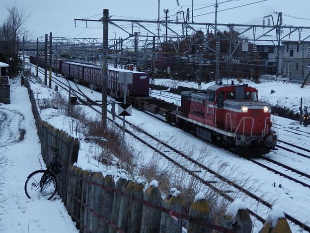 土崎を発車したDE10-3508牽引貨物 vol.2