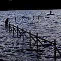 湖畔夕景~釣舟~