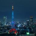 写真: 東京の青い夜!