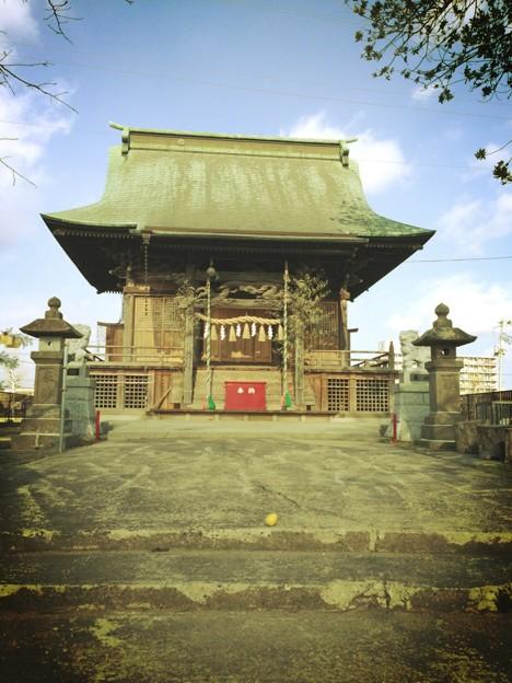 多賀城にある八幡神社 レトロ風