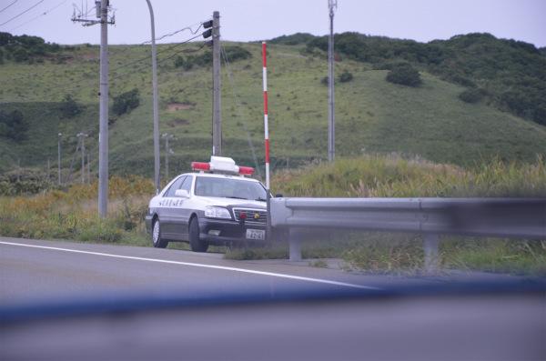 北海道で初めて取締中のパトカーに遭遇