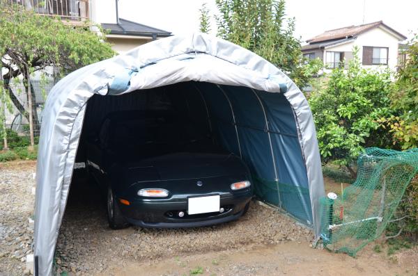 VR-Bを実家の車庫にしまってマリナーブルーで出発