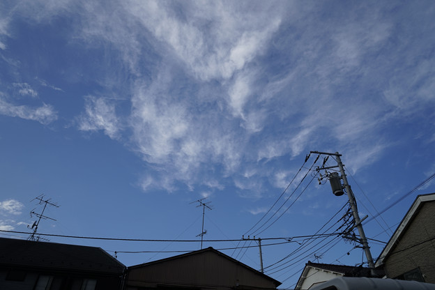JR鶴見線 浅野駅付近の空 20141025