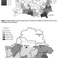写真: チェルノブイリ甲状腺癌の地域ごとの年間発症率と I-131 汚染度