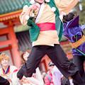 写真: 京都さくらよさこい2017 京炎そでふれ!文舞蘭