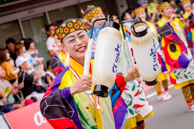 よさこい祭り2017 升形地域競演場 とらっくよさこい(ちふれ)