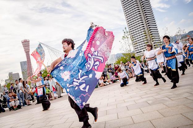神戸アライブ2017 うらじゃ踊り連 咲楽