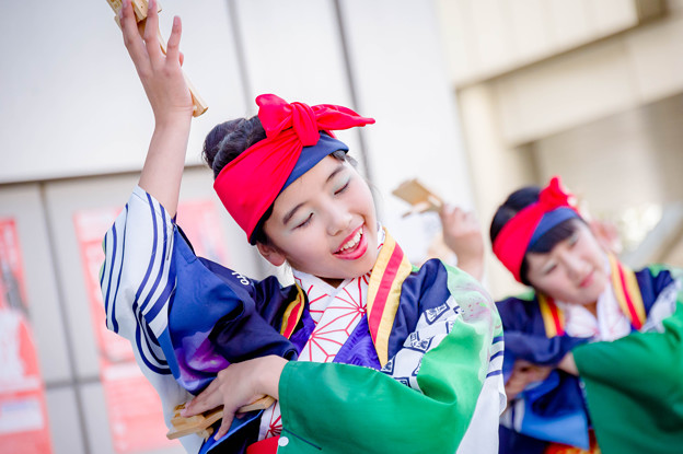 ドリーム夜さ来い祭り2017 四万十町よさこい踊り子隊 四万夢多