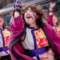 Photos: 京都さくらよさこい2018 岡山うらじゃ連楽鬼