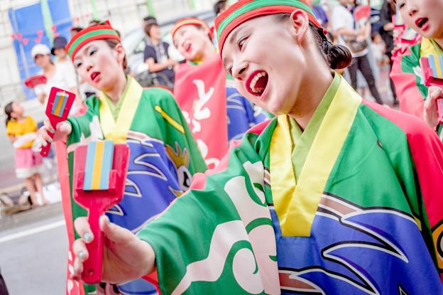 よさこい祭り2019 とらっくよさこい(ちふれ) 愛宕競演場