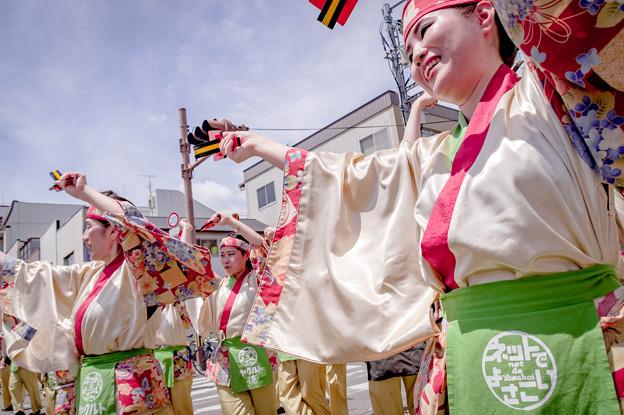 よさこい祭り2019 ネットでよさこい高知 上町競演場
