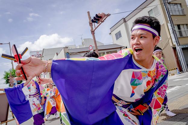 よさこい祭り2019 上町競演場 高知県よさこいアンバサダー絆国際チーム