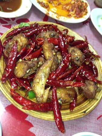 鳥肉の辛子炒め