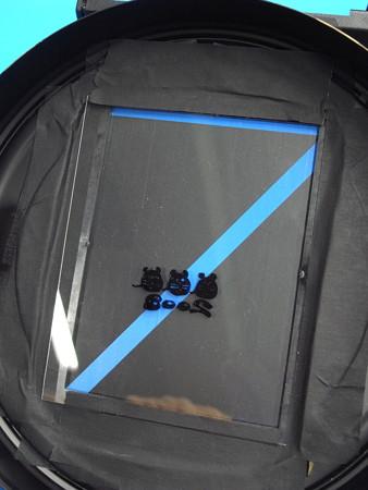 ピンホール影絵種板設置