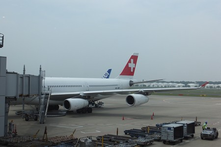 成田空港から出発