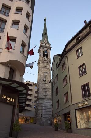 サンモリッツ・教会の塔