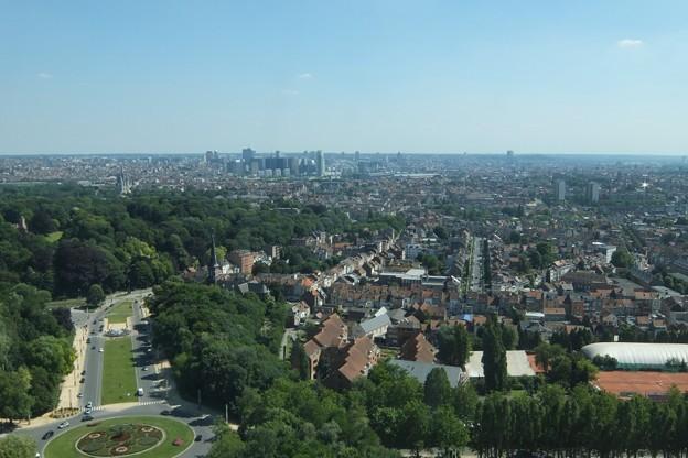 写真: アトミウム展望台から見た景色