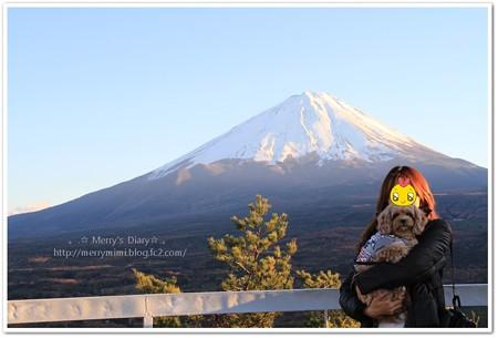 富士山とパチリ