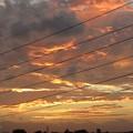 写真: 日没後の夕焼け空燃えていた