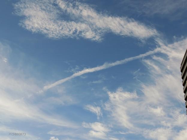 飛行機雲 ウロコ雲 絹雲