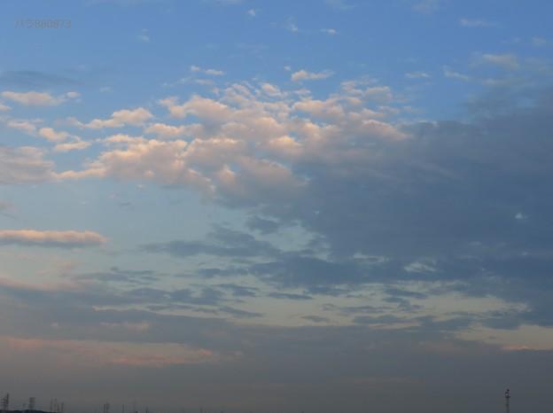 夕焼け受けた南の空