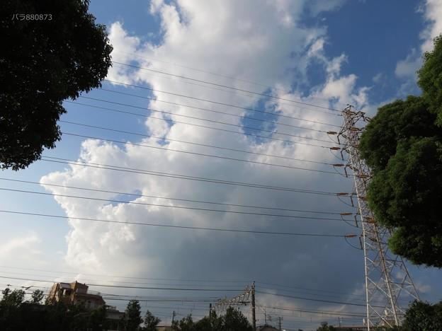 雲が面白い形をして