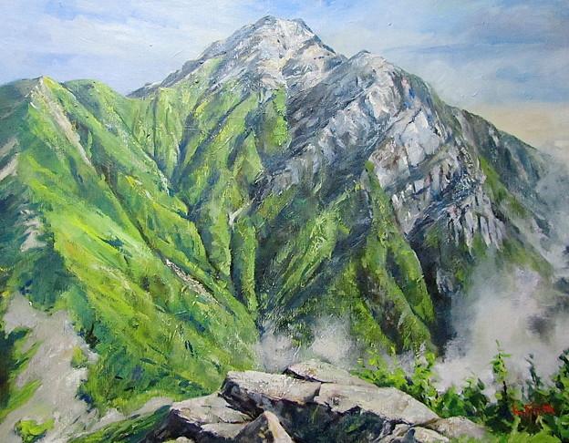 栗沢山から望む甲斐駒ヶ岳