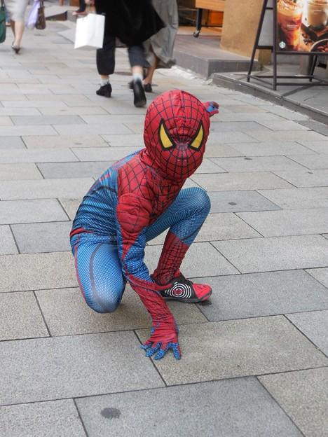 青山通りのスパイダーマン