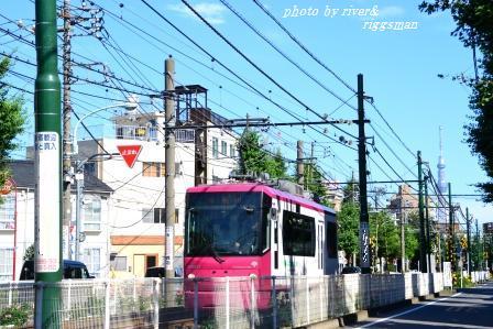 東京スカイツリーと荒川都電2