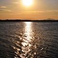 湖の日暮れ